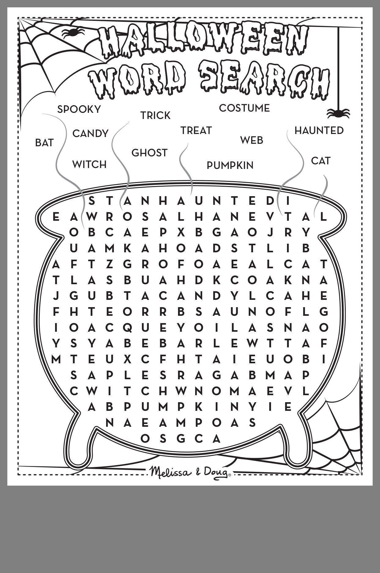 Halloween Worksheets For First Grade Otra Sopa De Letras