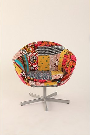 Cute Computer Chair Patchwork Chair Funky Home Decor Funky Chairs