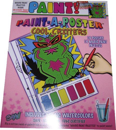 """Paint A Poster"" Paint with Water Coloring Book Cool"