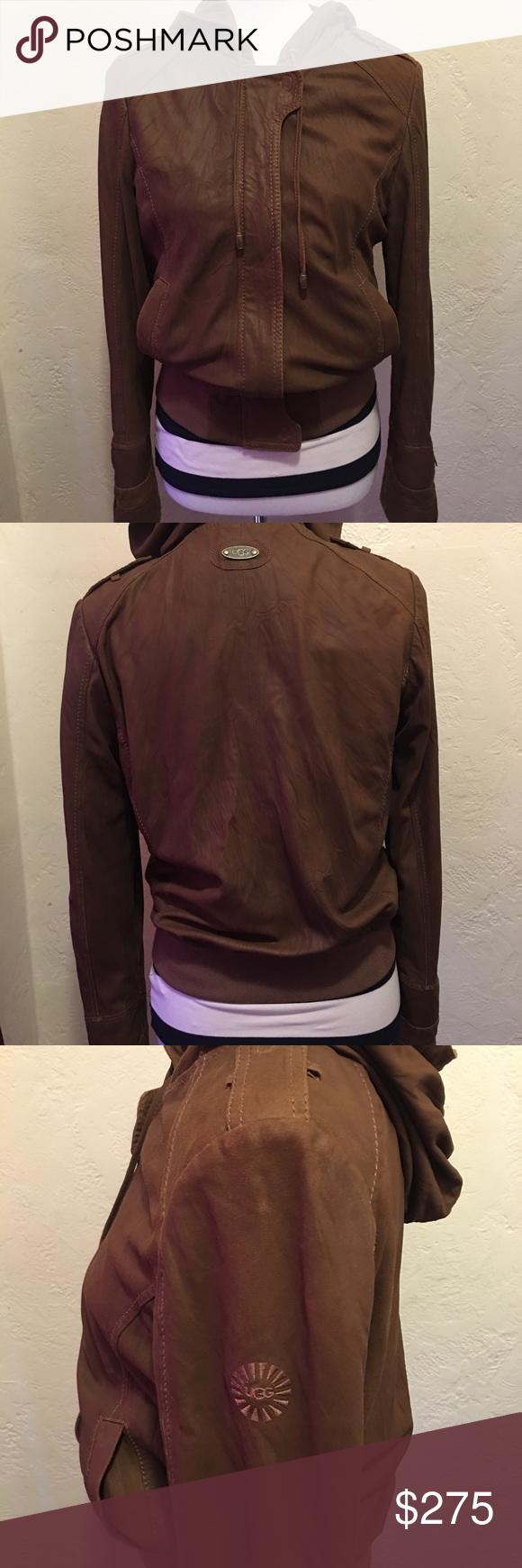 UGG Goat Suede leather Jacket size Medium Ugg jacket
