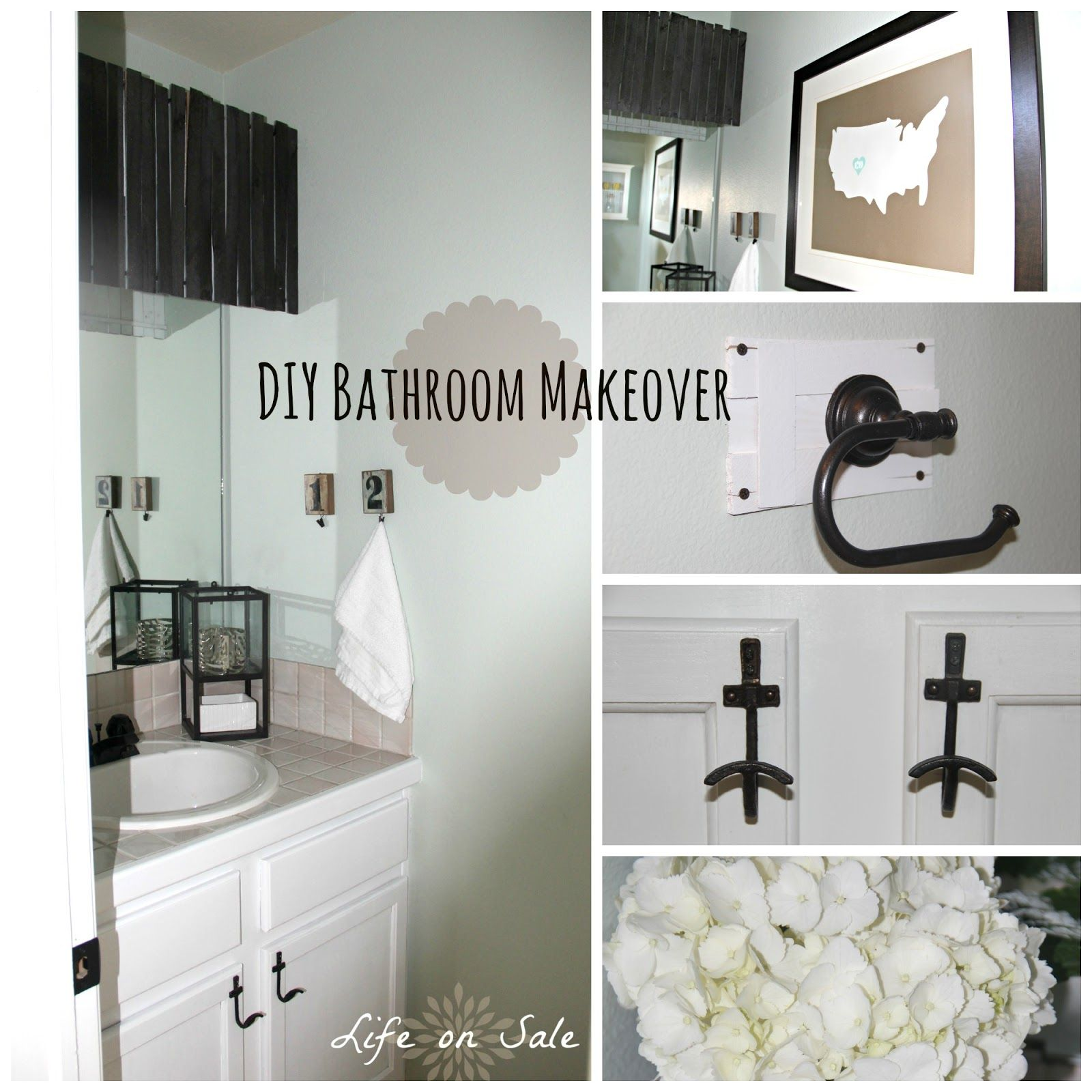 1990s Bathroom Makeover for $26.00! Easy and inexpensive!! | Happy ...