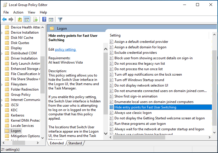 How To Disable Fast User Switching In Windows 10 2 Methods Users Windows Registry Windows 10