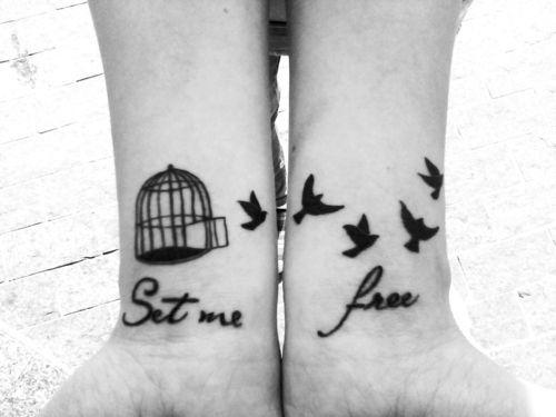 8bbe25bb0 Set me free tattoo. I like the birds. | tattoo | Tattoos, Free bird ...