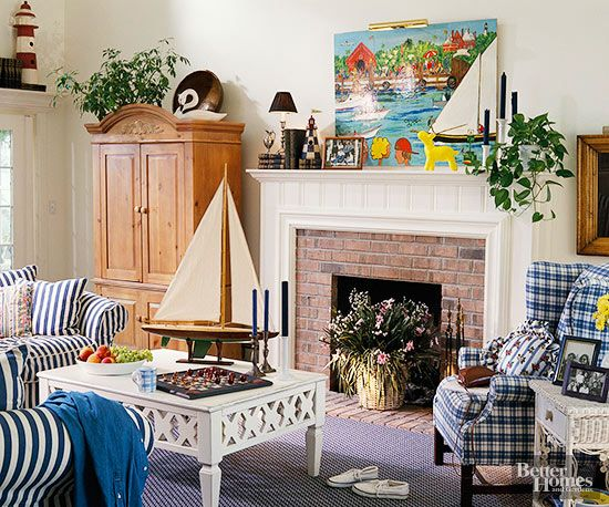 Nineties Style Living Often Featured Prime Pattern Play, With Plaid And  Striped Textiles Taking Top Marks.