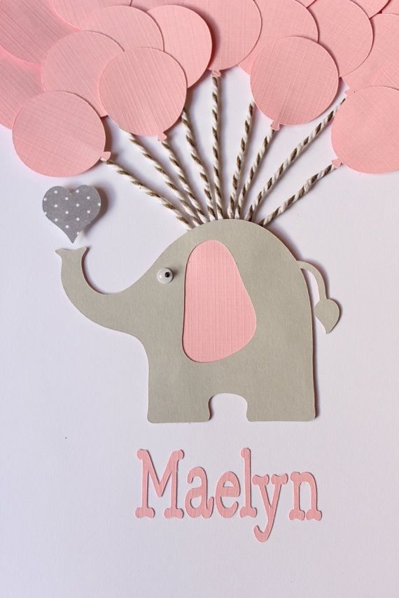 Pink Elephant Baby Shower Sign In Book Guest By FavorsAndMemories
