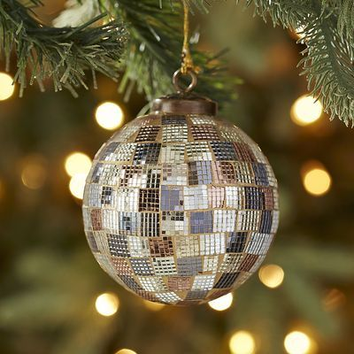 Glass Mosaic Tile Ball Ornament