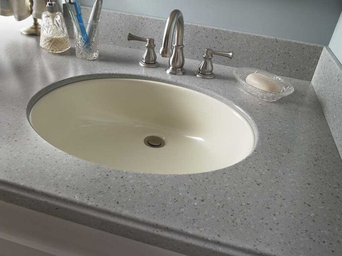 810 Corian Sink Two Of These In Glacier White For Double Vanity New Bathroom 2016