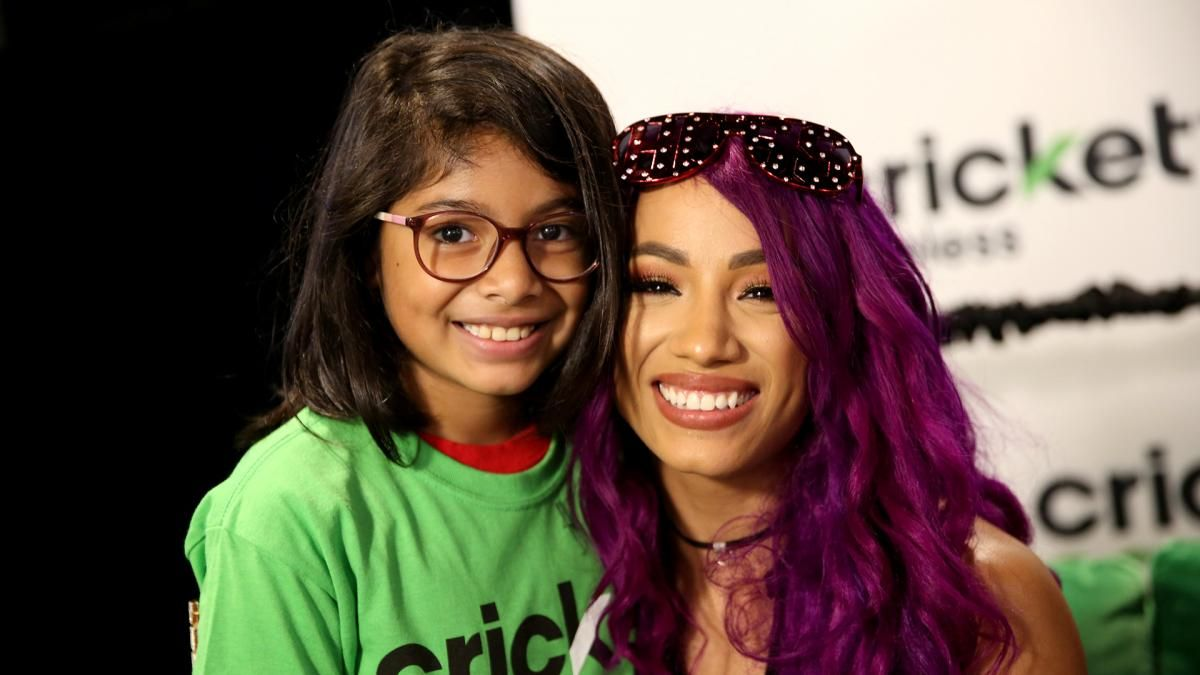 Photos john cena stops by the barclays center for a special john cena sasha banks and the hardys stop by the barclays center for a special meet greet presented by cricket wireless m4hsunfo