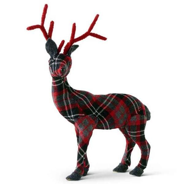 Choose our 16 in Plaid Fabric Deer to accent this year\u0027s holiday