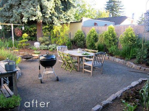 Backyard {pea gravel} inspiration | Backyard renovations ...