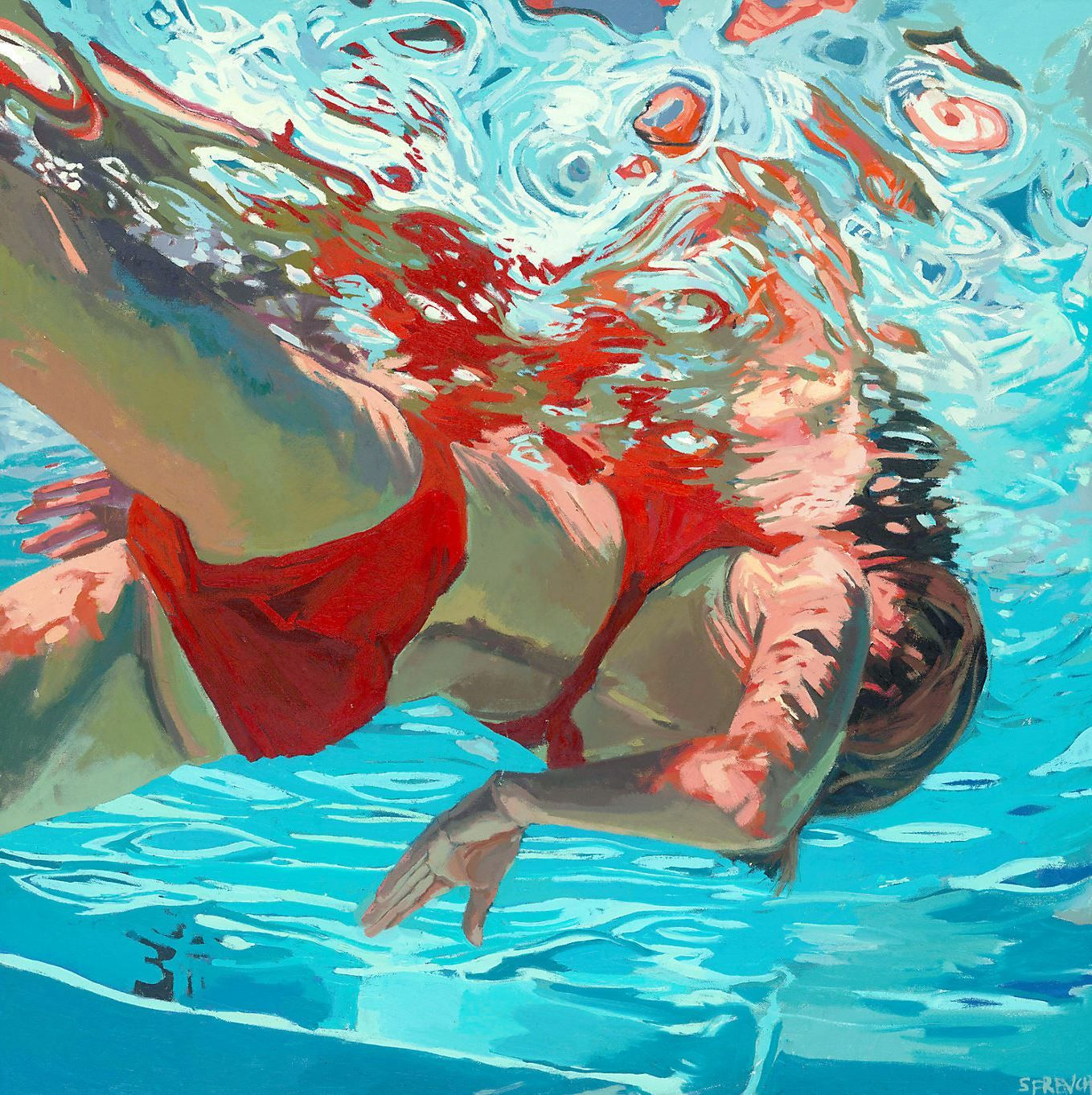 underwater painting easy - HD1358×1362