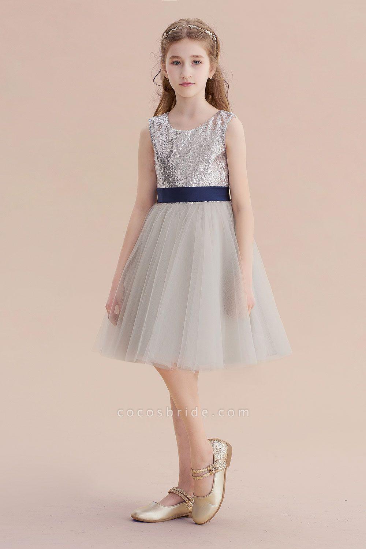 Elegant sequins tulle aline flower girl dress flower