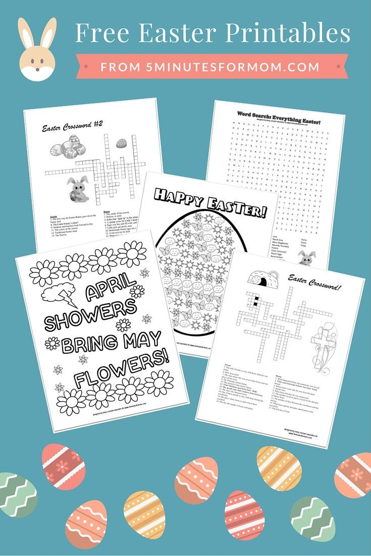 Free Easter Printables for Kids - Coloring Sheets and Crosswords ...