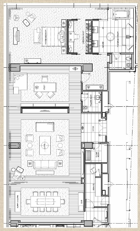 Hotel Room Plan: Hilton Shenzhen Presidential Suite