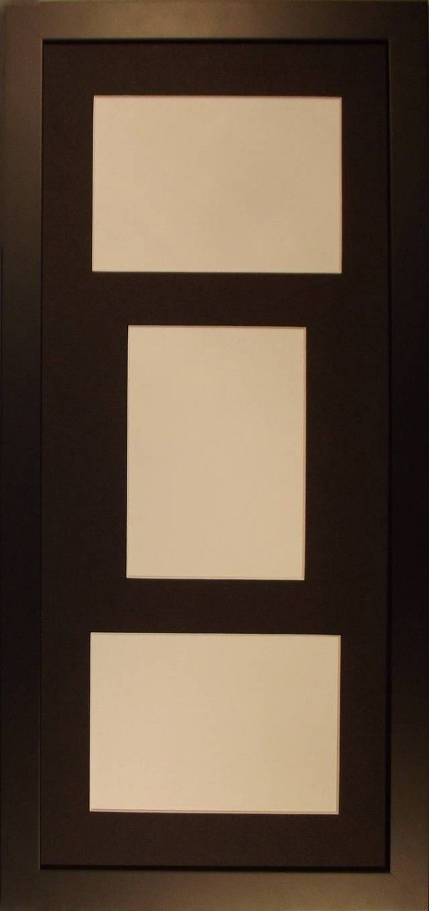 black photo frame number of photo cutouts 3 2 horizontal 1 vertical