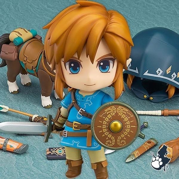 "The Legend of Zelda Breath Of The Wild Nendoroid Link 4/"" Action Figure Model Toy"