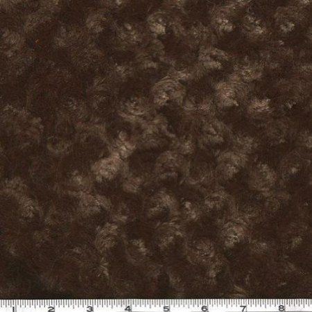 Amazon.com: 60'' Wide Minky Cuddle Rose Chocolate Fabric By The Yard: Arts, Crafts & Sewing