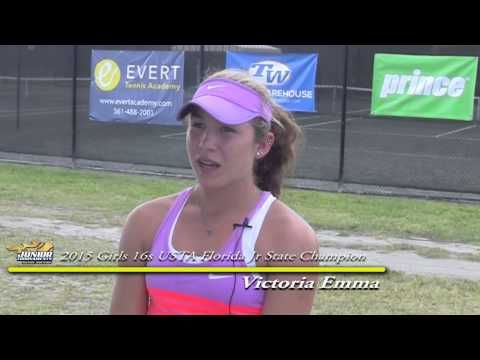 Victoria Emma - Girls 16s Champion 2015 USTA Florida Jr ...