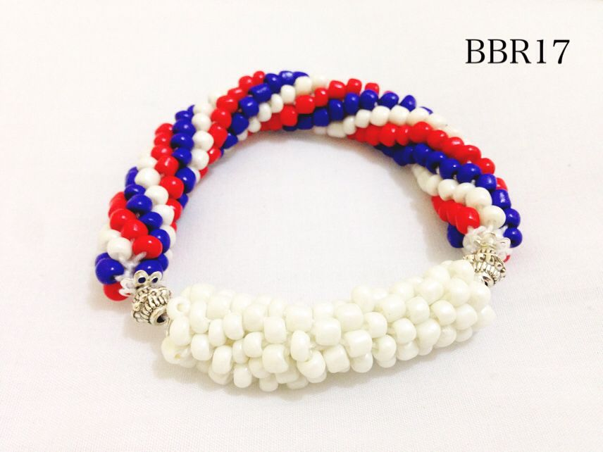 blue, white & red