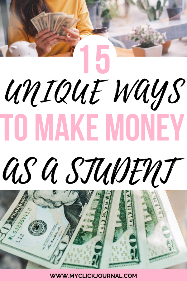 Here Are 15 Ideas How To Make 1000 Month As A Student Perfect Ways To Make Money For College Students A College Money College Student Budget How To Get Money