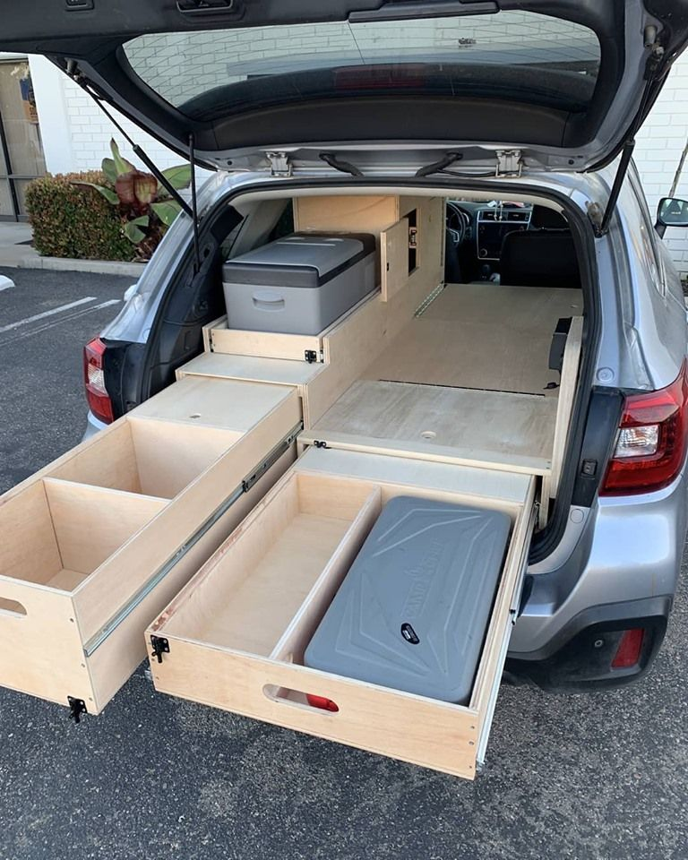 Making Cabinets For Cars Truck Bed Camping Car Camper Suv Camping