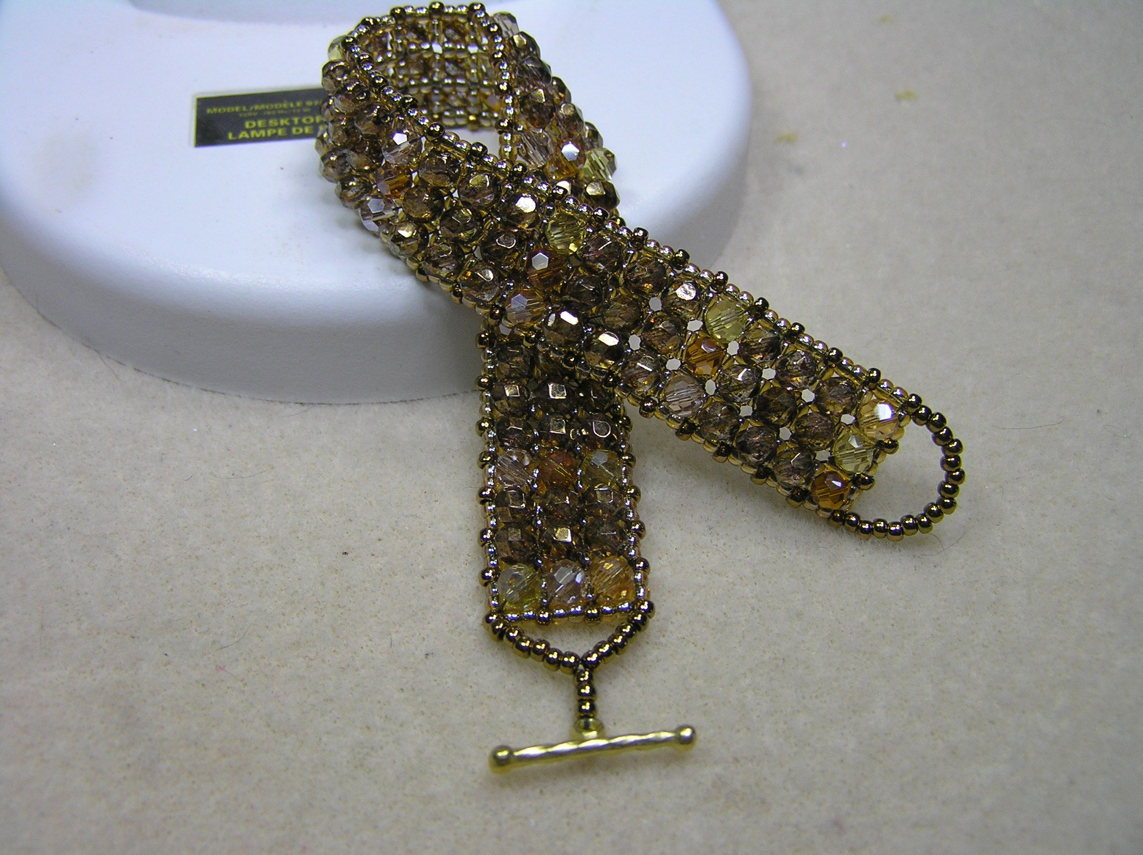 Bracelet i created using part of a pattern from the