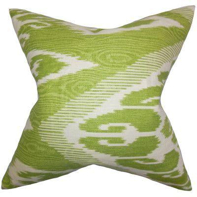 Bloomsbury Market Delano Ikat Linen Throw Pillow Ikat