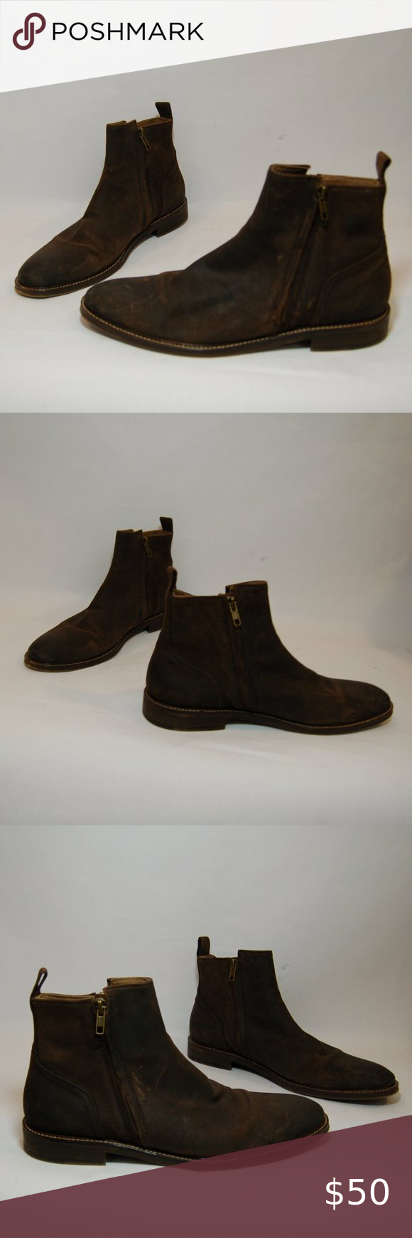 Aston Grey Helani Brown Leather Chelsea