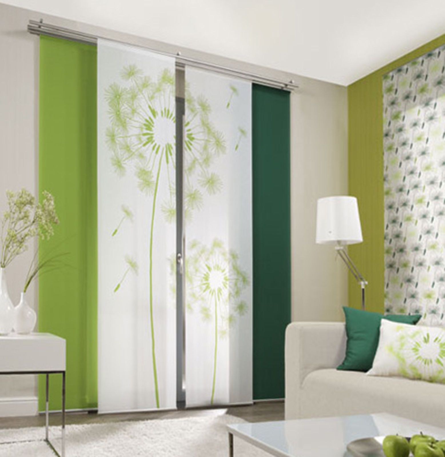 Dandelion allover curtain panel room divider panel blinds in