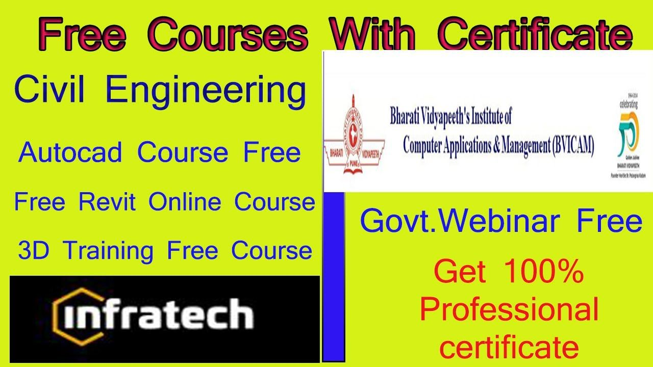 Free Government Webinar Courses For Students With Certificate Free Aut In 2020 Autocad Training Data Science Online Courses With Certificates