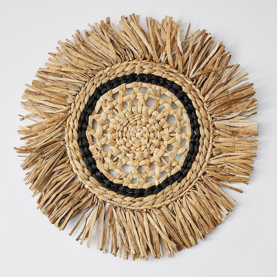 Round Wicker Wall Hanging In 2019 Boho Home
