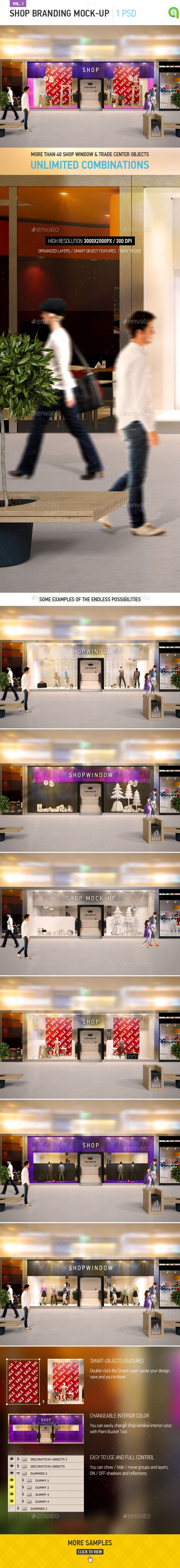 Shop Window Branding Mockup Photoshop Psd Christmass Cloth Available Here Https Graphicriver Net Item Shop Window Branding Mock Branding Window Brands