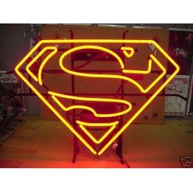"""Sinal logotipo SUPERMAN vermelho artesanato tubo de vidro REAL NEON luz cerveja BAR loja de jogo 20 x 15 """""""