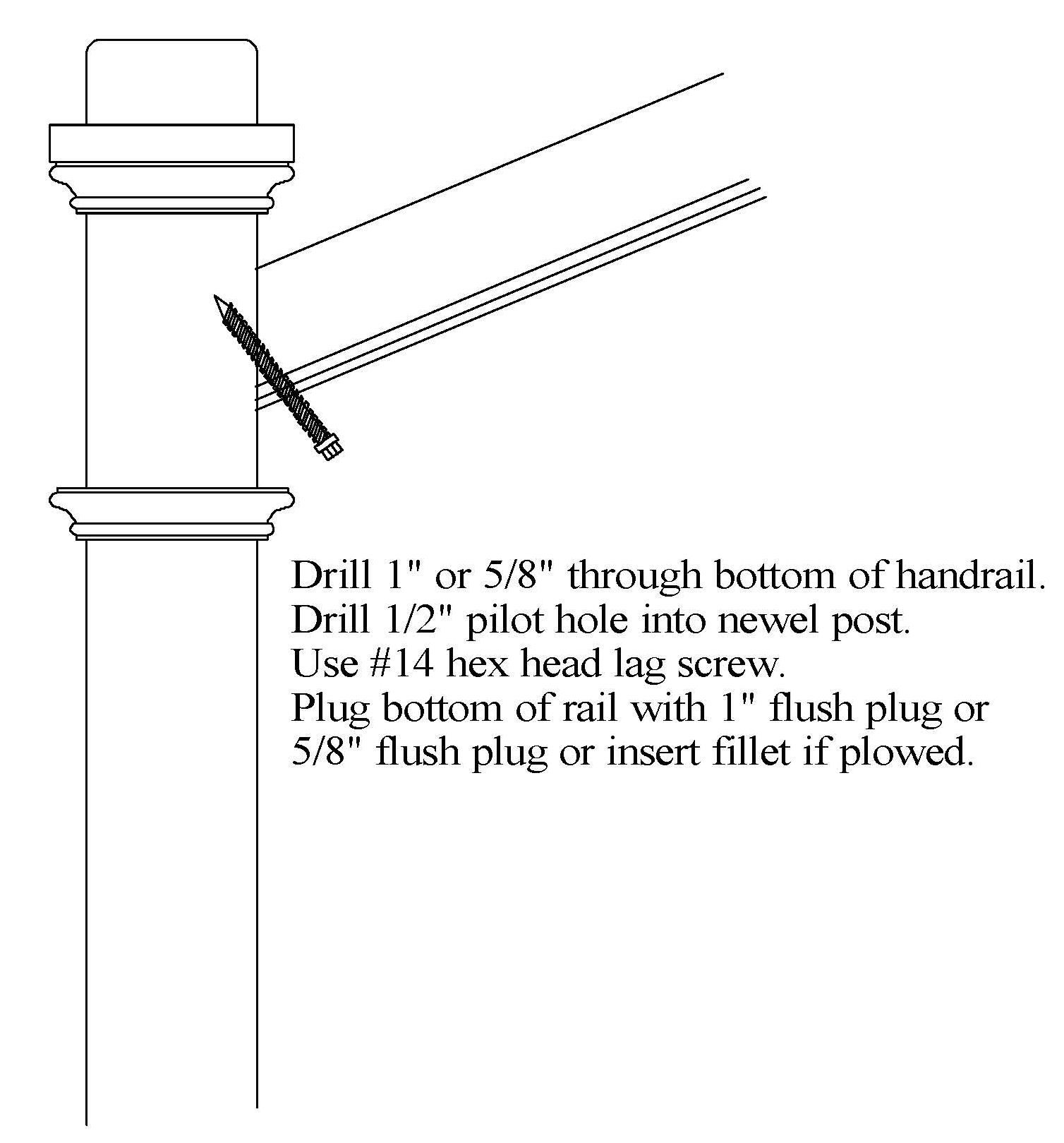 Best Attaching Handrail To Newel Post Staircase Handrail 400 x 300