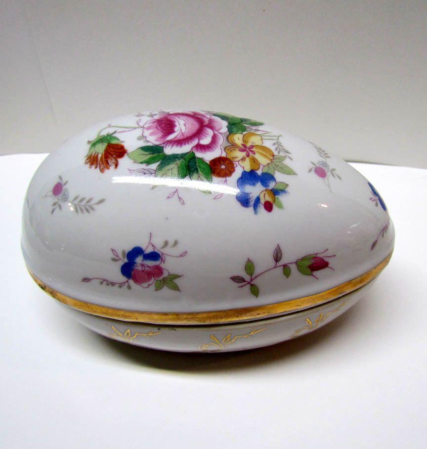 Vintage DECORATIVE CERAMIC EGG Trinket Container / Trinket Box / Keepsake Box - Home Decor by VINTAGEandMOREshop on Etsy https://www.etsy.com/listing/240887612/vintage-decorative-ceramic-egg-trinket