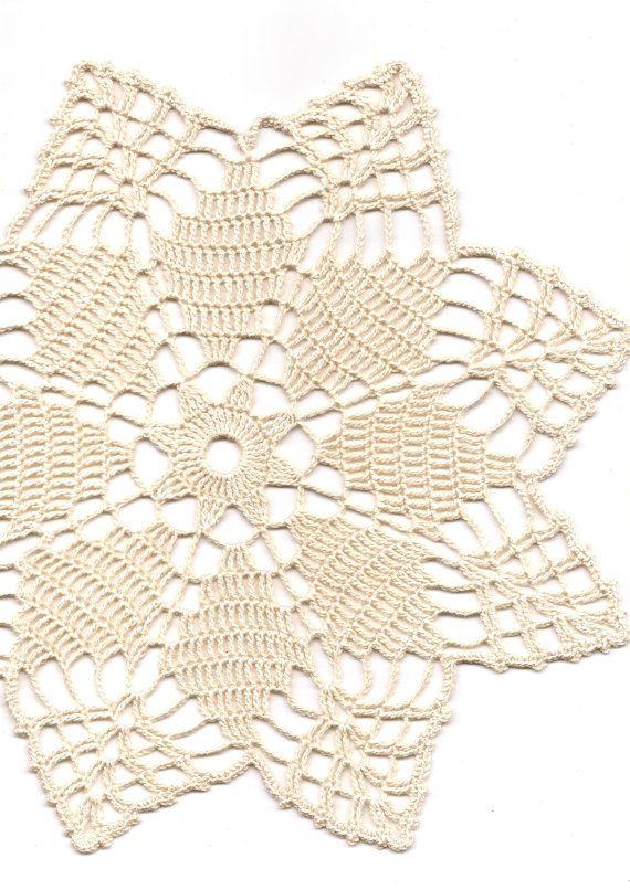 Crochet Doilies Lace Doily Table Decor Crocheted Place Mat ...