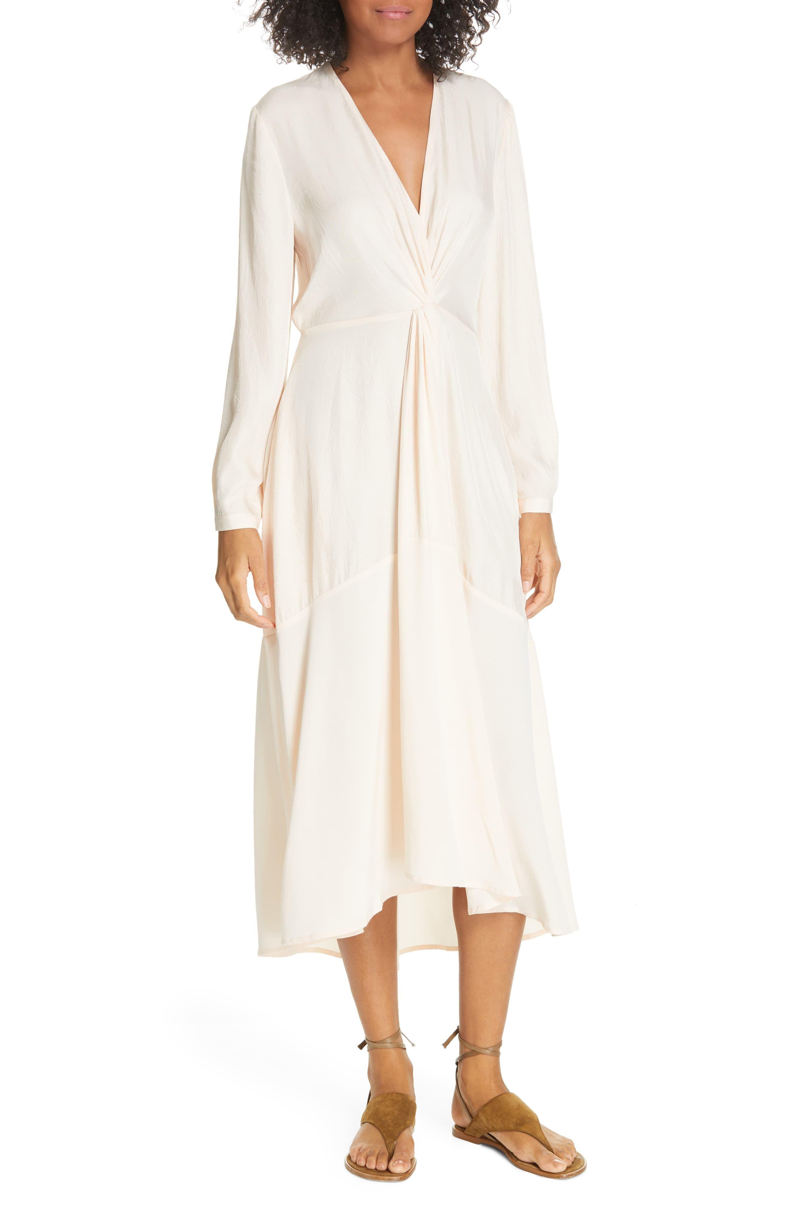Vince Twist Drape Long Sleeve Dress Size 4 Oat Blush At Nordstrom Rack In 2021 Nordstrom Dresses Draped Dress Clothes For Women [ 4048 x 2640 Pixel ]