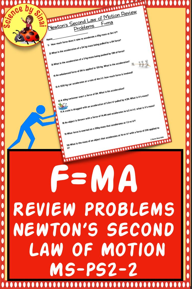 F Ma Review Problems Newton 39 S Second Law Of Motion