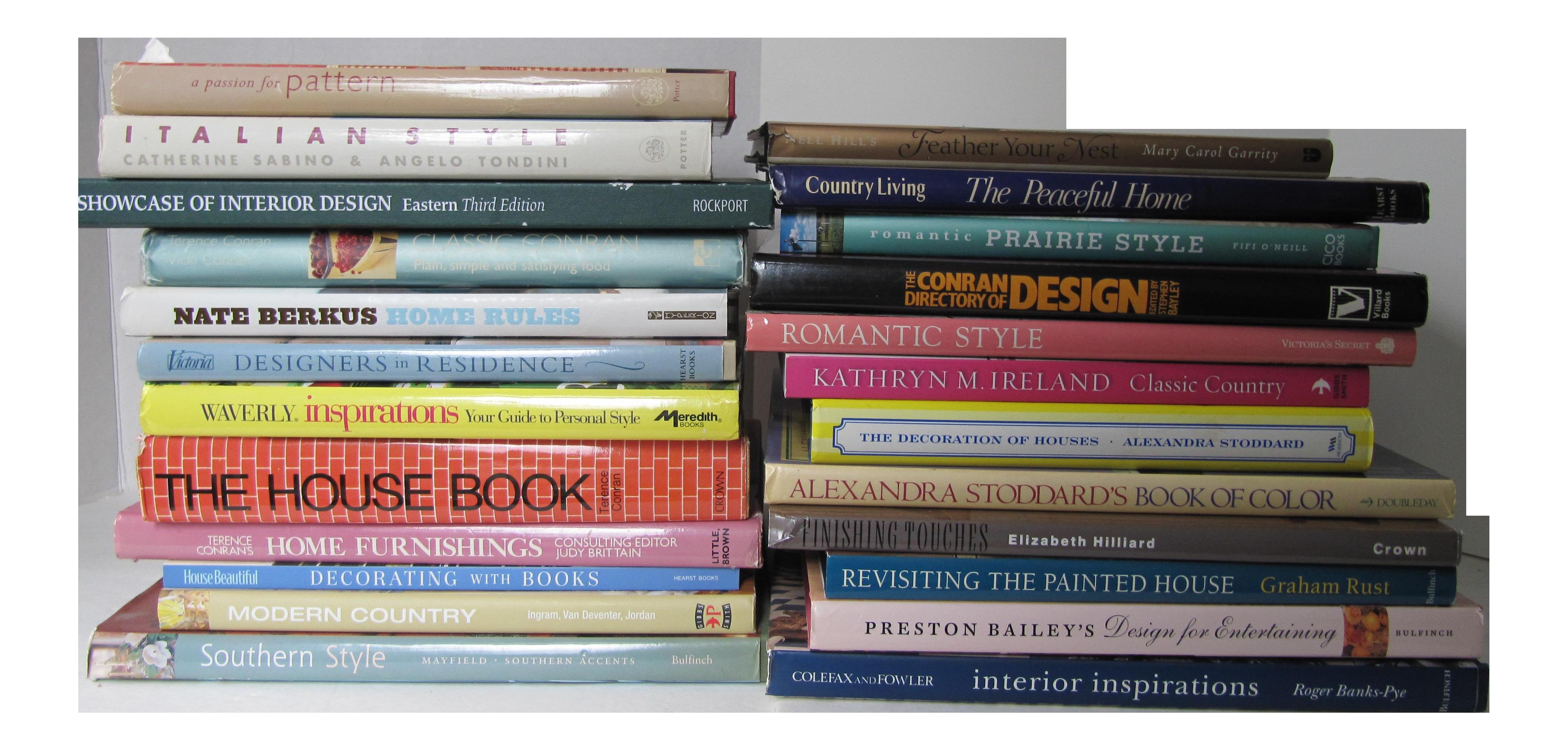 Interior Design Book Collection 24 Pieces On Chairish A