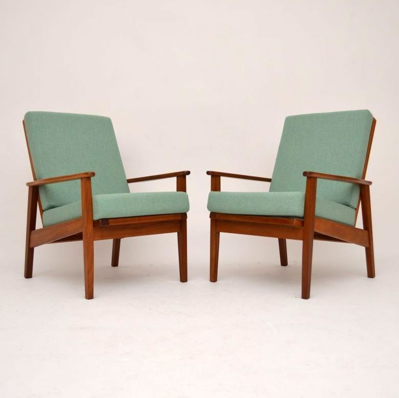 895 Pair Of Danish Teak Retro Armchairs Vintage 1960 S Danish Teak Armchair Teak Armchair Retro Armchair