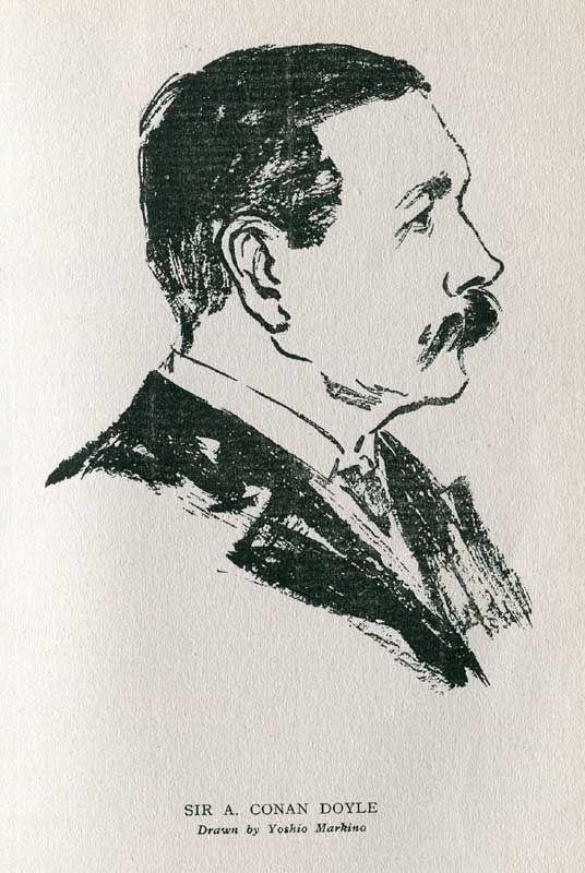 牧野義雄(1870-1956)はエドワード朝ロンドンの文壇画壇を直接経験できた稀有の人材です。友人知人のスケッチも数多く残しています。画像はご存知コナン・ドイルと名優ビャボム・ツリー。スレイデンの『わが人生20年分』より。 pic.twitter.com/vR50kI9ex6