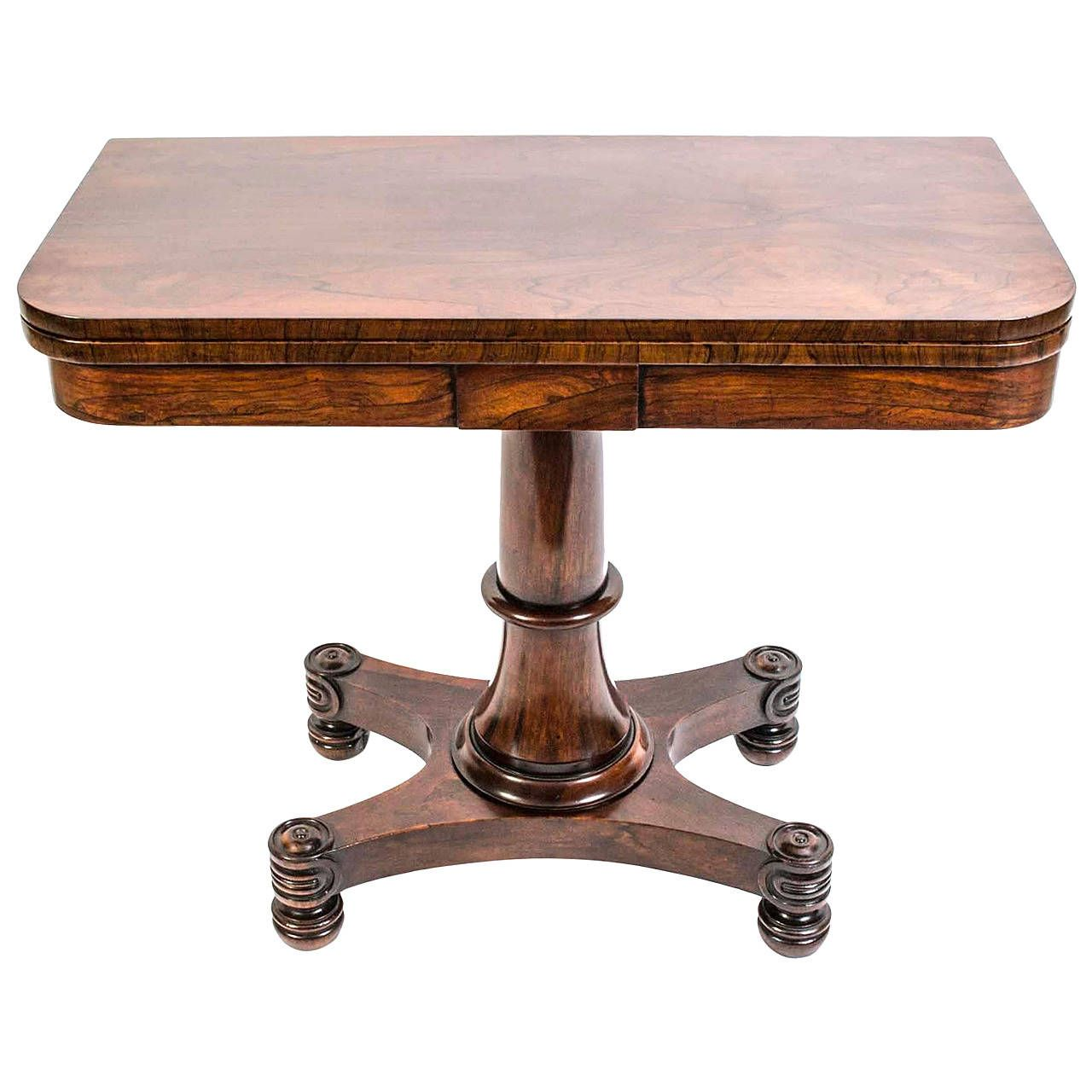 Antique William Iv Rosewood Card Table Circa 1830 1stdibs Com Table Neoclassical Furniture Dining Table