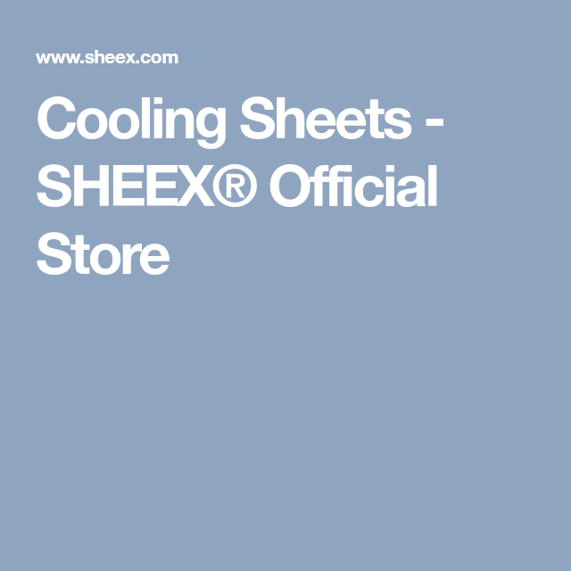 Cooling Sheets Sheex Official Store Sheets Home Craft Decor