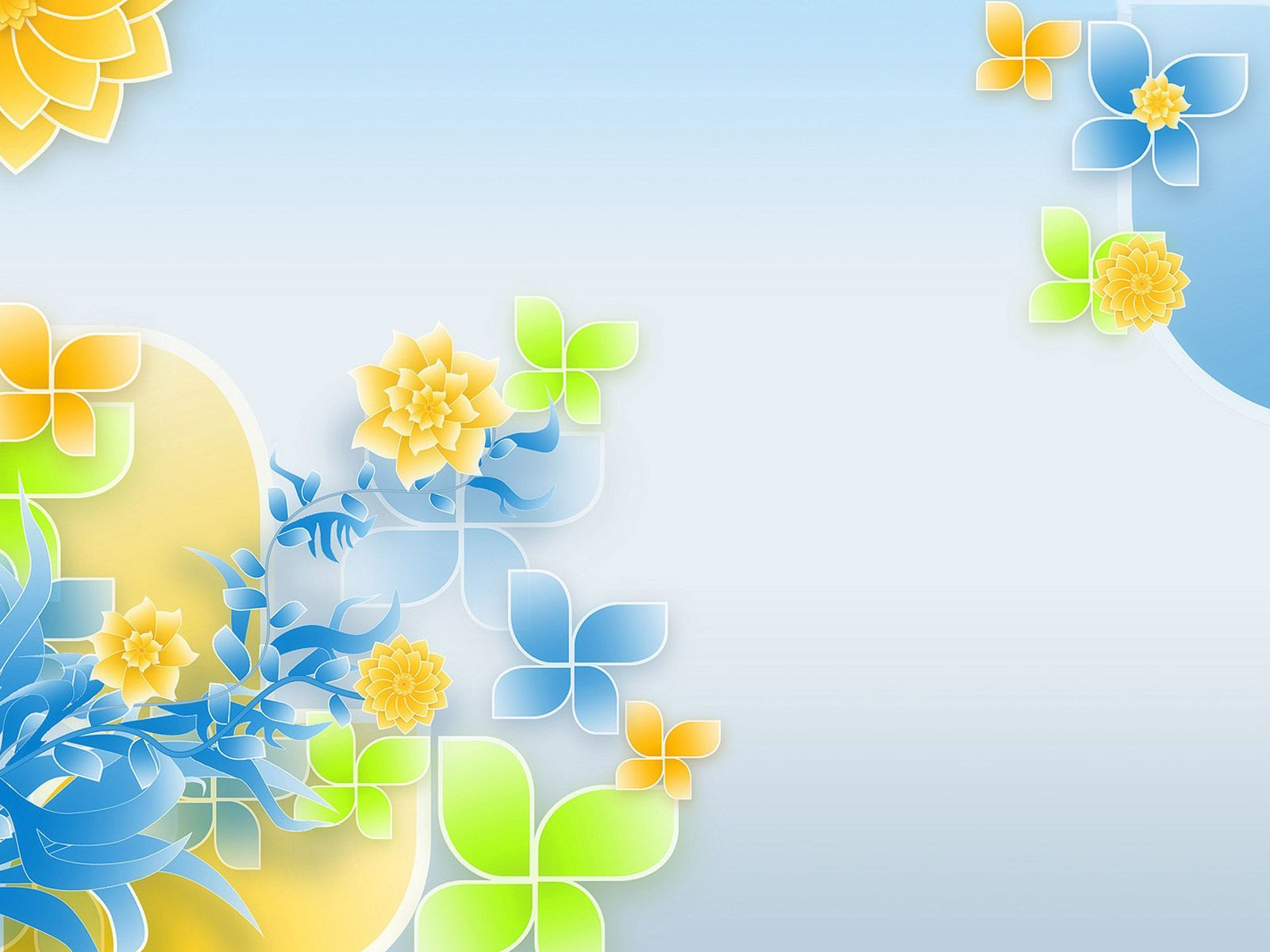 Floral patterns PowerPoint background. Available in 1600x1200 ...