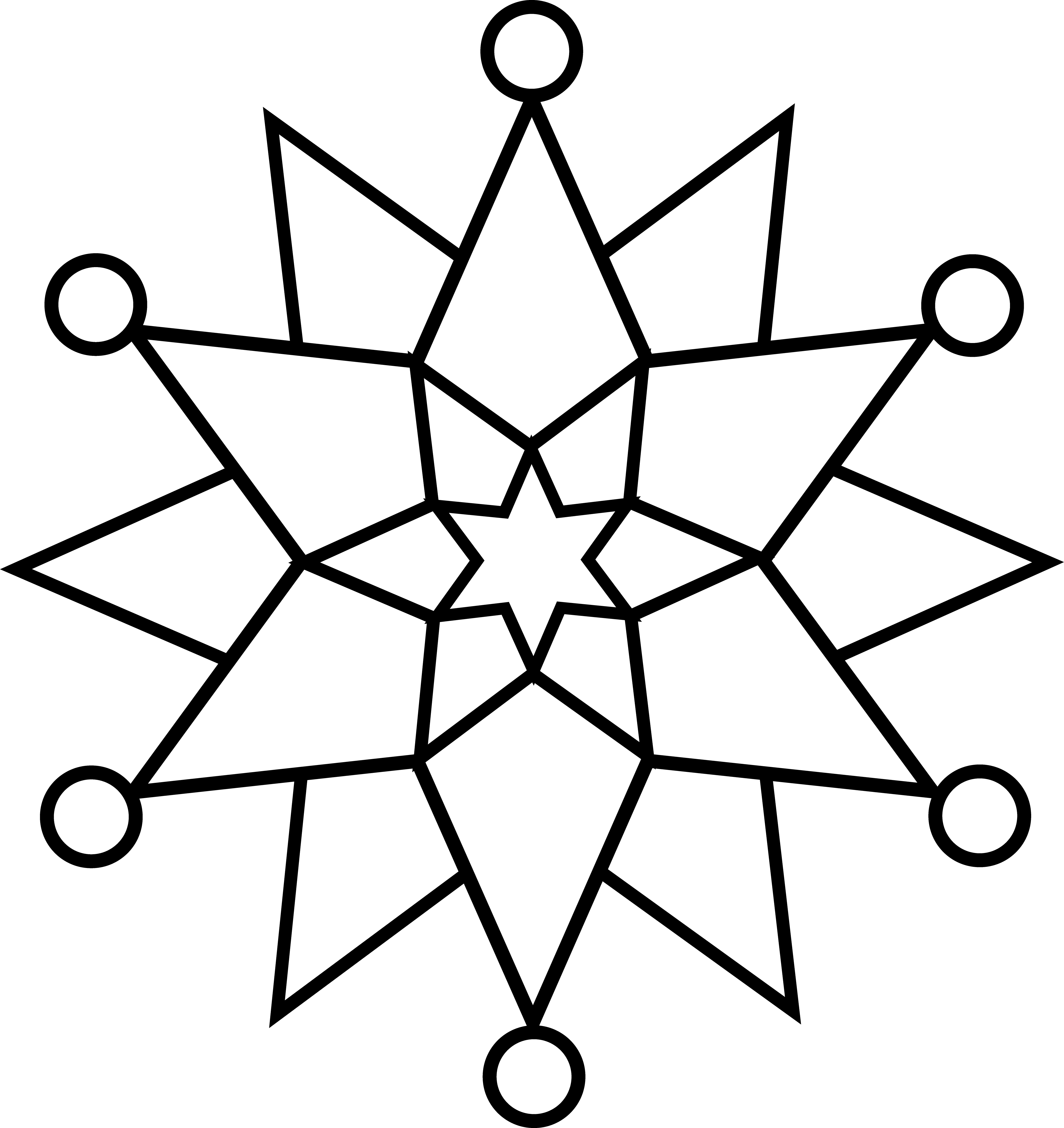 Black and White Snowflake   design   Pinterest   Snowflake pattern ...