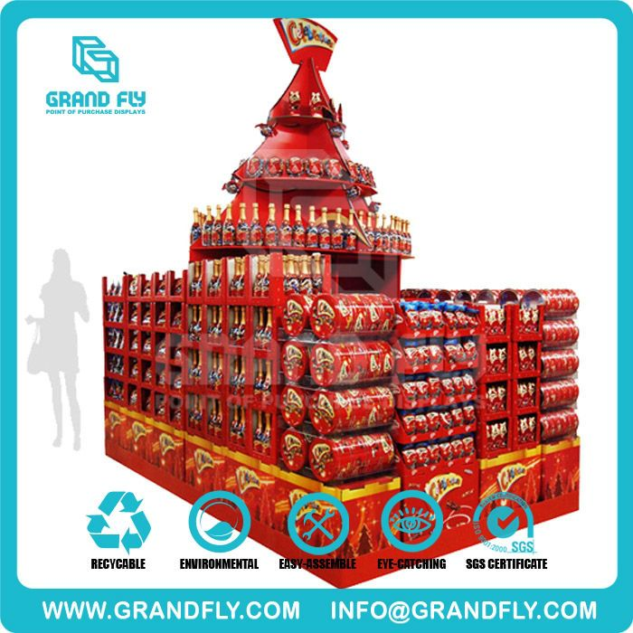 Festival Supermarket Cardboard Round Retail Floor Display For Tomato Juice  Photo, Detailed About Festival Supermarket