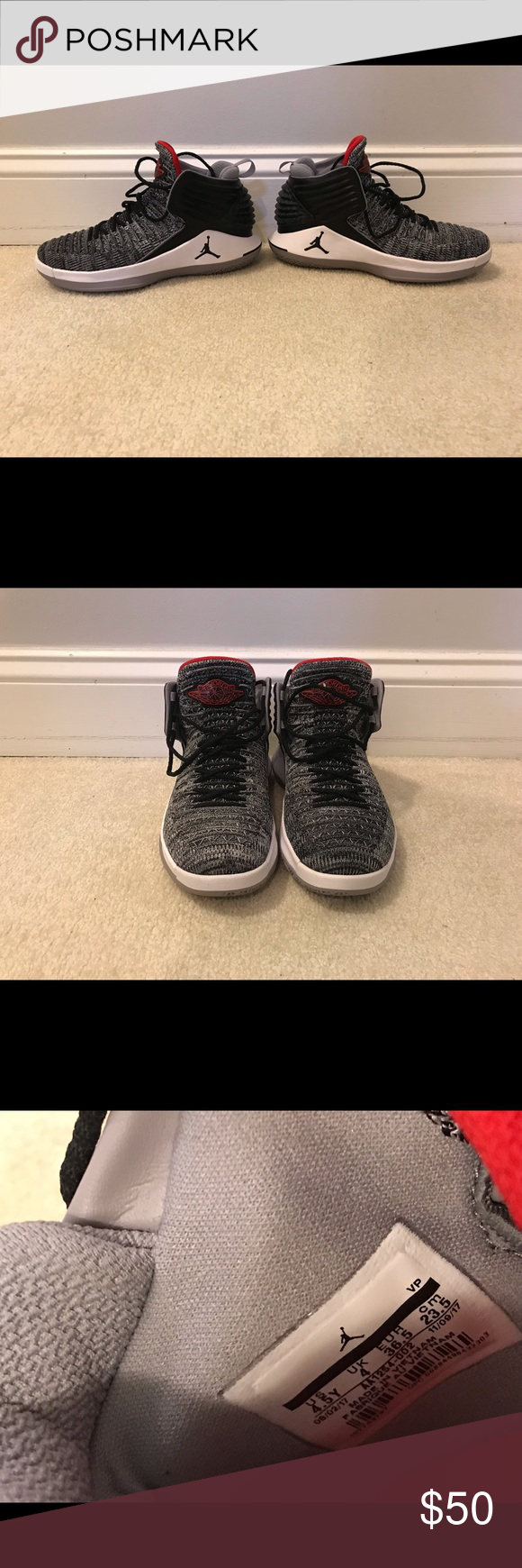 on sale e642c 687c5 Jordan AJ XXXII Mid Lightly used Jordan AJ XXXII Mid. Very ...