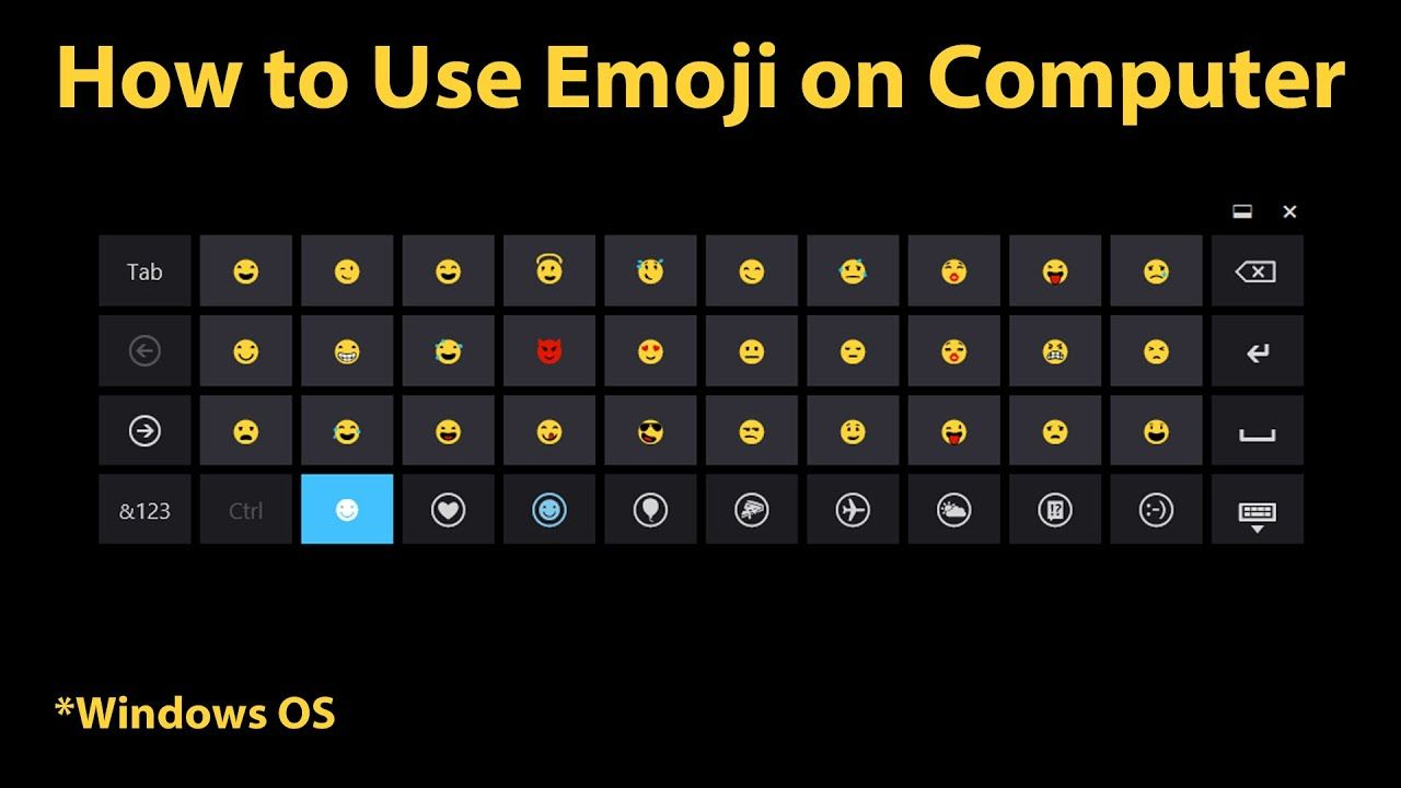 How To Use Emoji On Computer Windows 8 Newer In 2020 Pc Keyboard Typed Emojis Computer