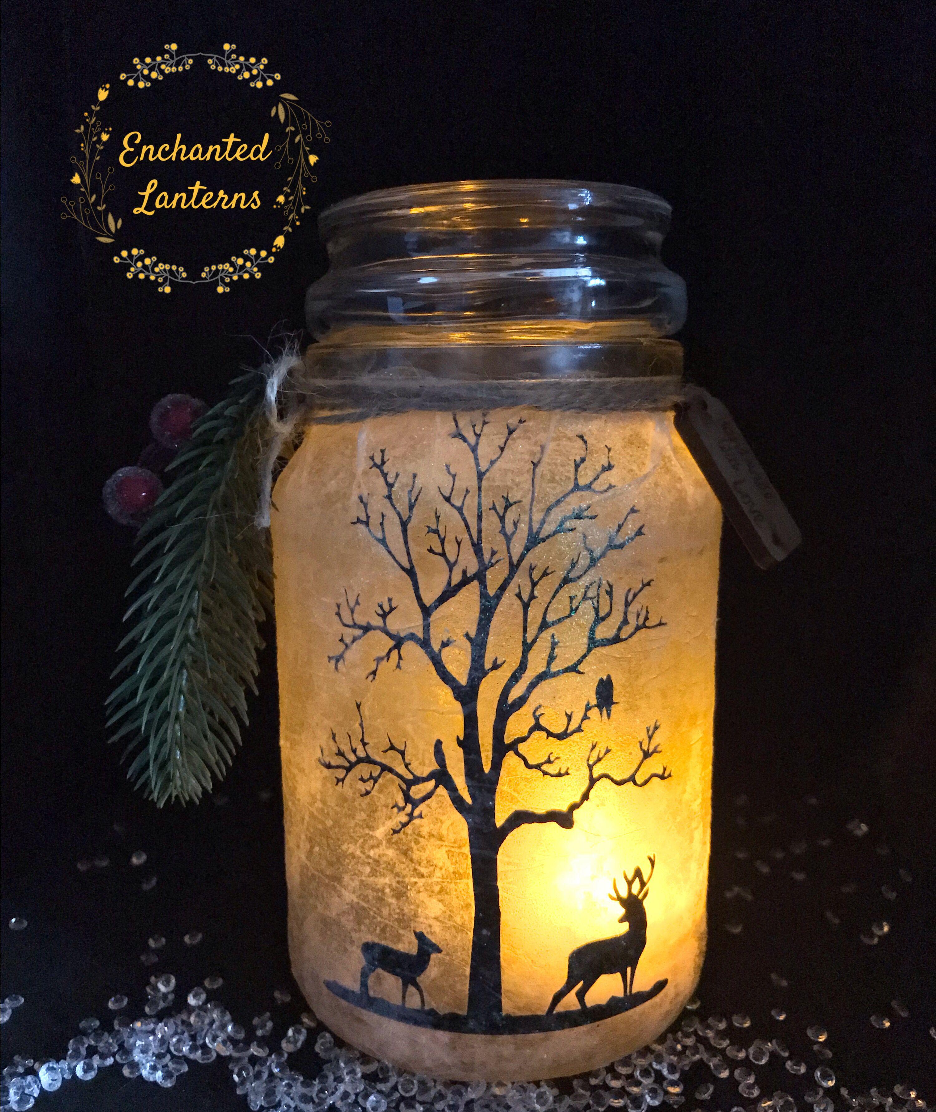 Reindeer Lantern Christmas Jars Fairy Jars Mason Jar Crafts Diy