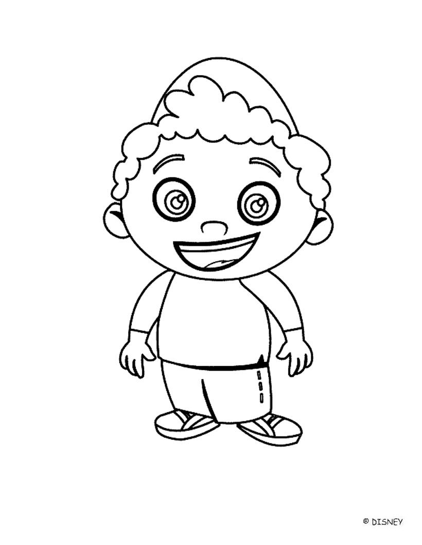 Free Coloring Pages Download : Your Little Ones Will Adore These Free  Little Einstein Coloring Of